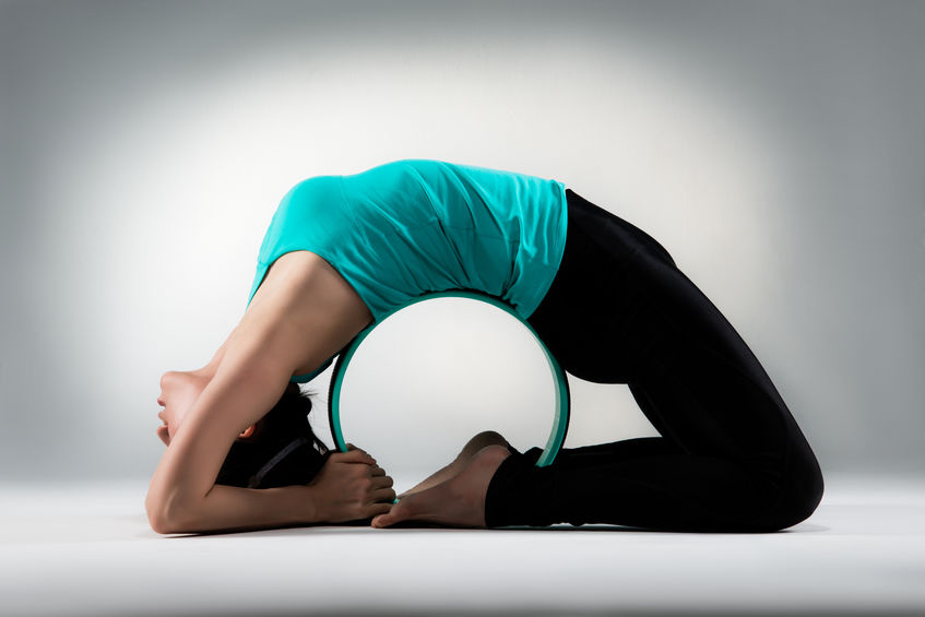 woman showing perfect fitness posture